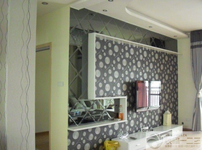 电视背景墙个性壁纸设计图