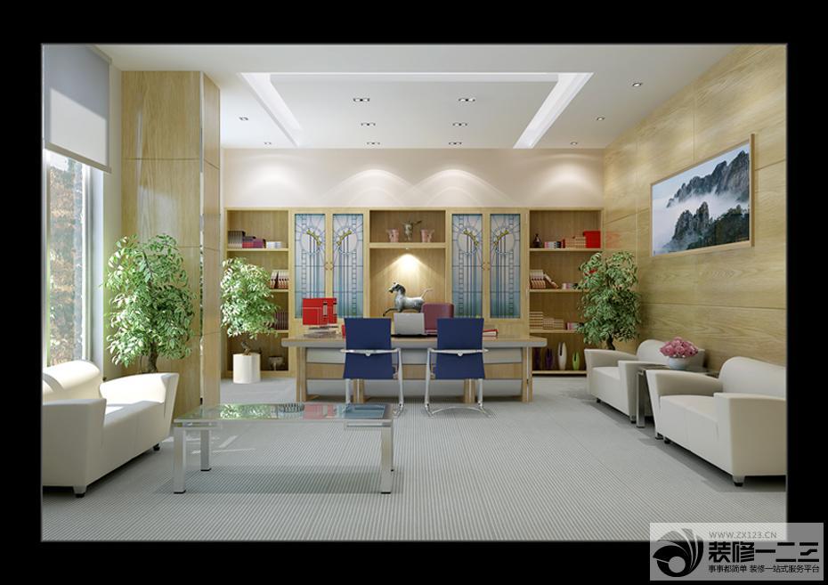 办公室室内木质墙面设计图
