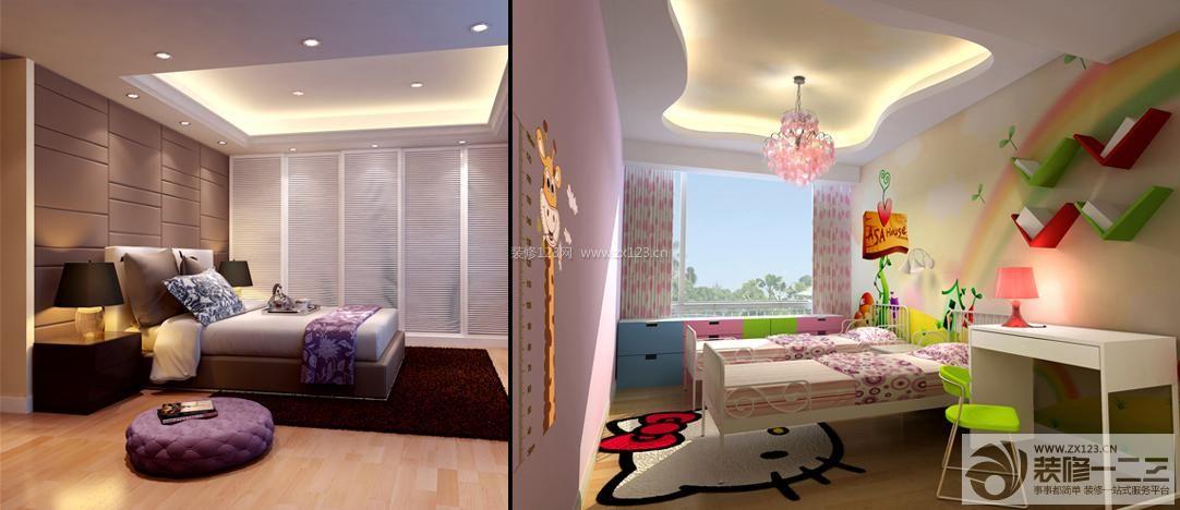 卧室石膏板吊顶设计图片
