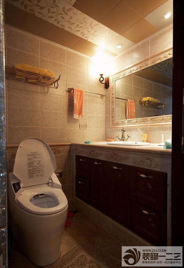洗手间大理石台面设计图片