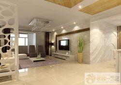 現代客廳大理石背景墻設計圖