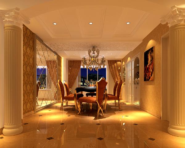 现代欧式风格家庭餐厅设计图