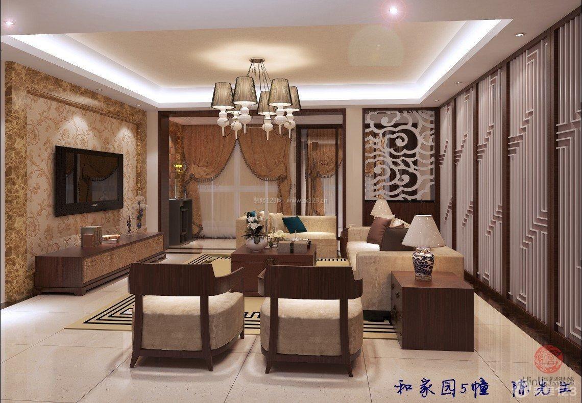 莲都区水木南苑客厅30-40平米混搭风格装修效果图