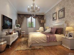 室內主臥室花紋壁紙設計圖
