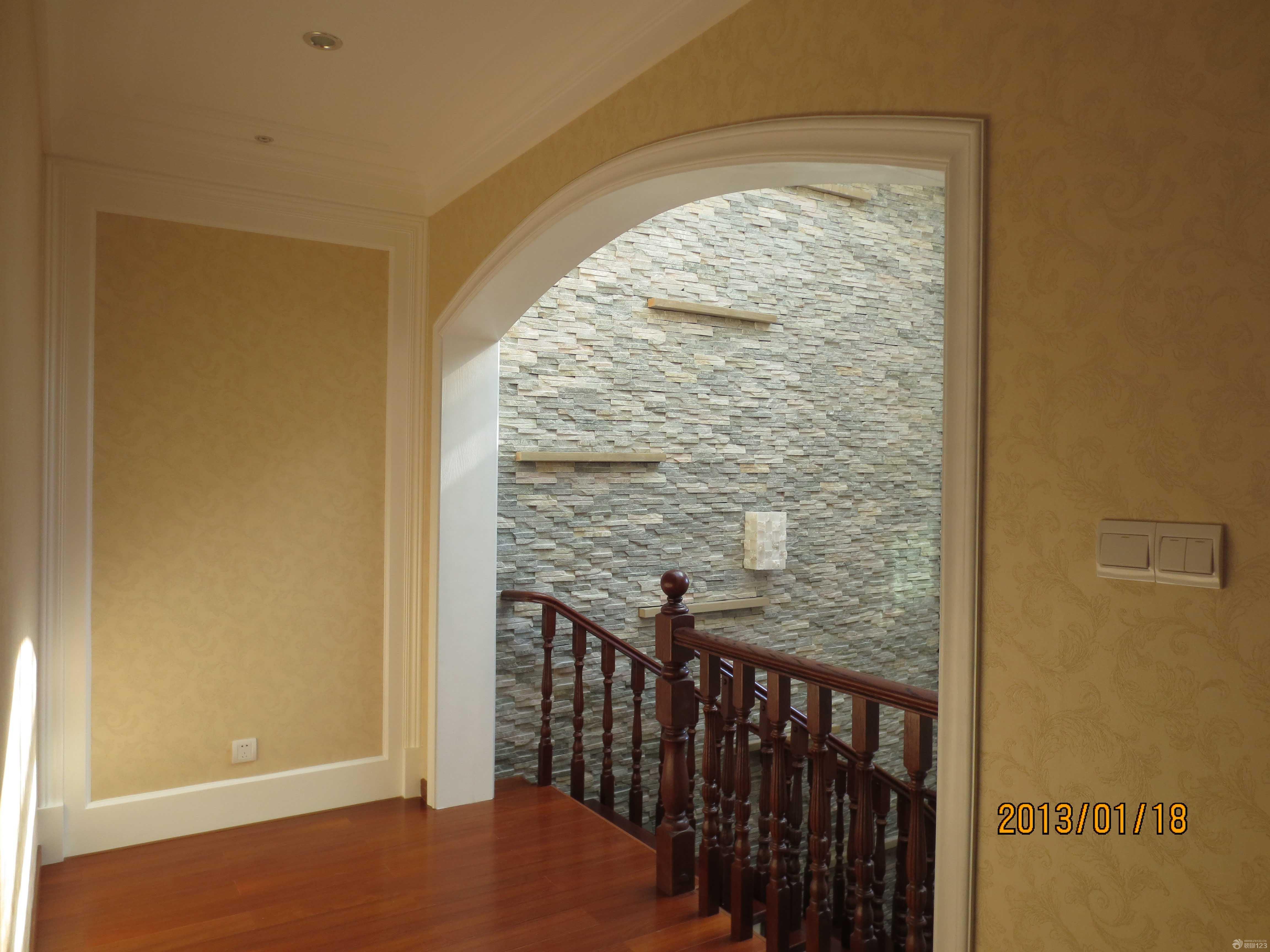 简约欧式风格玄关墙面壁纸图片
