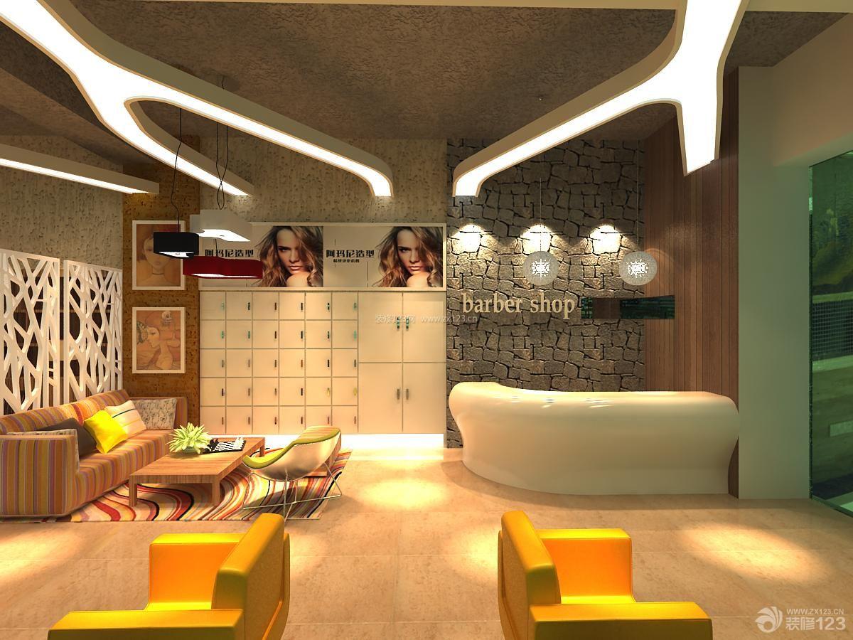 后现代风格发廊装修设计效果图