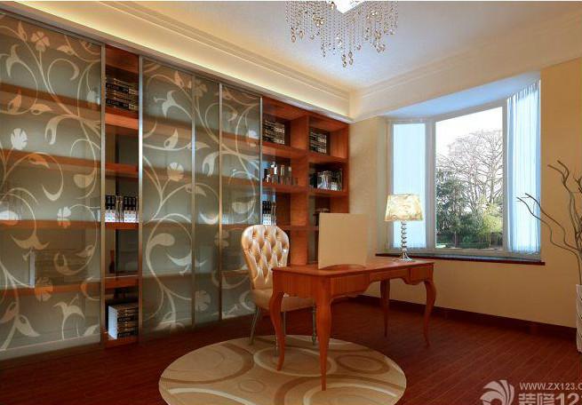 欧式风格书房展示柜装修效果图