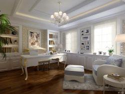歐式風格書房簡約書桌裝修效果圖