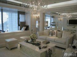現代歐式風格客廳沙發背景墻樣板房
