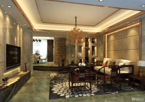 简中式客厅大理石地砖装修效果图