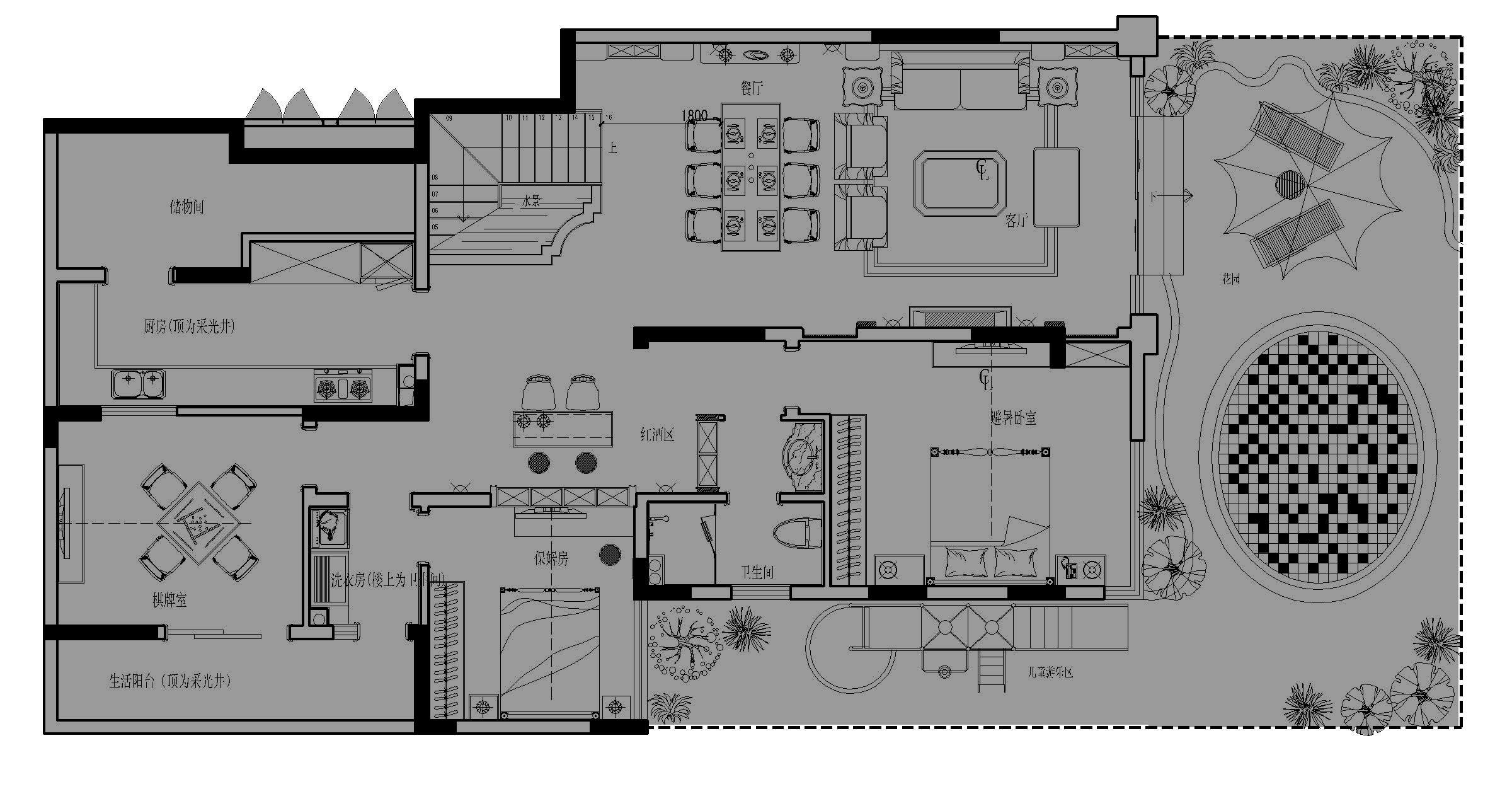 休闲餐吧平面图设计图免费下载 dwg格式 编号14448318 千图网 宽505