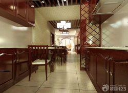 中式風格廚房櫥柜效果圖