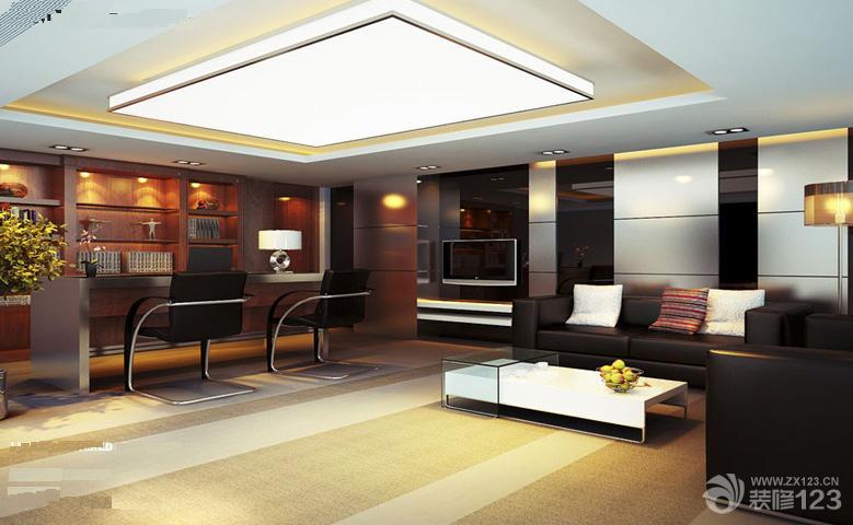 现代简约风格客厅木质墙面装修效果图
