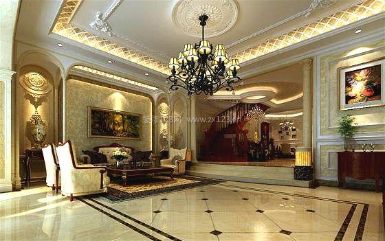 背景墙装饰 背景墙设计 欧式吊灯 灯带 射灯 石膏板吊顶 雕花吊顶