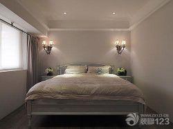 美式田園臥室雙人床設計圖