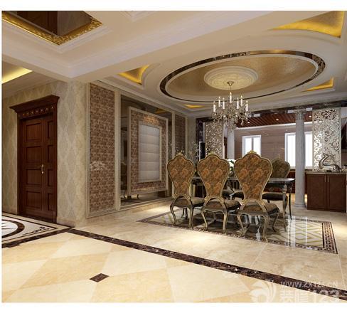 美式风格客厅影视墙装修图片