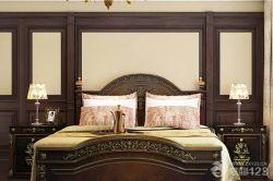 美式風格臥室雙人床裝修設計圖