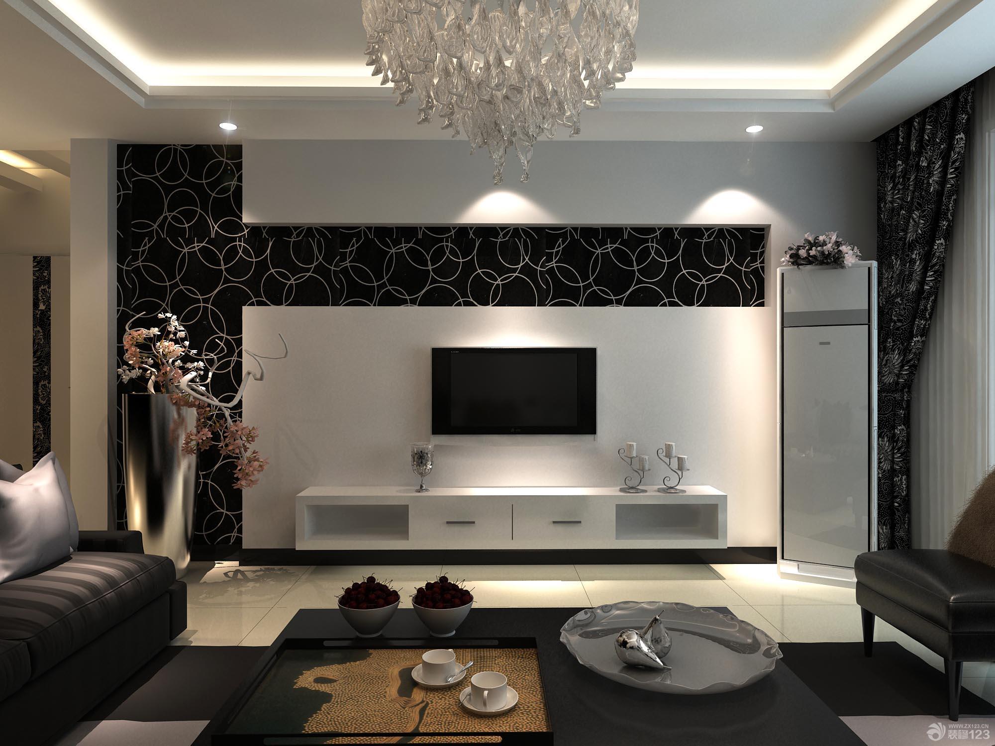 后现代风格客厅影视墙装修效果图