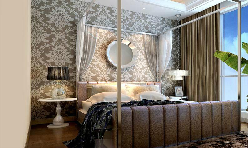 欧式风格别墅室内设计卧室装修样板房