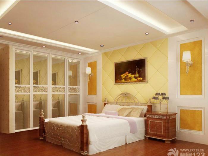 欧式室内设计卧室铁艺床装修效果图