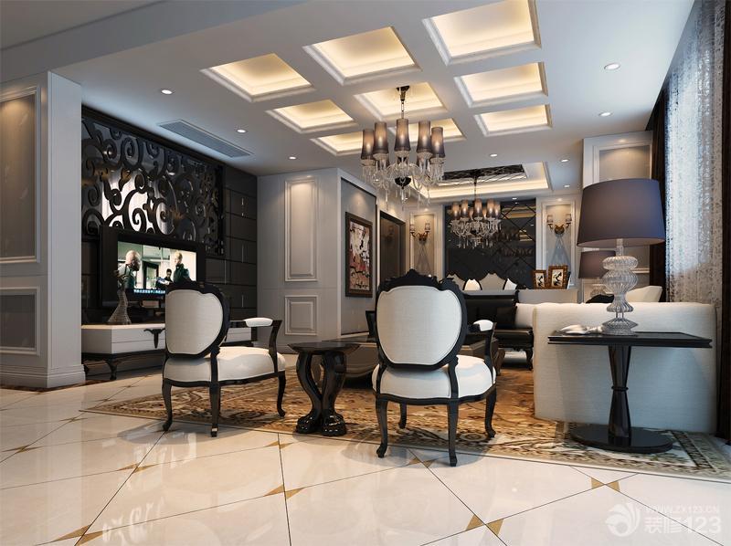 欧式家装客厅装修设计效果图