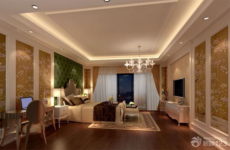 欧式风格卧室软包背景墙效果图