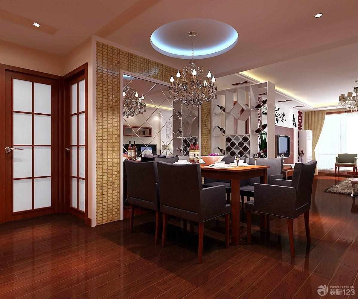 新中式时尚餐厅设计图-创意家居小户型房间装修实景图 图片收藏