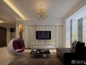 背景墻壁紙 室內電視背景墻 地毯 吊燈 紗簾 布藝沙發 異型沙發