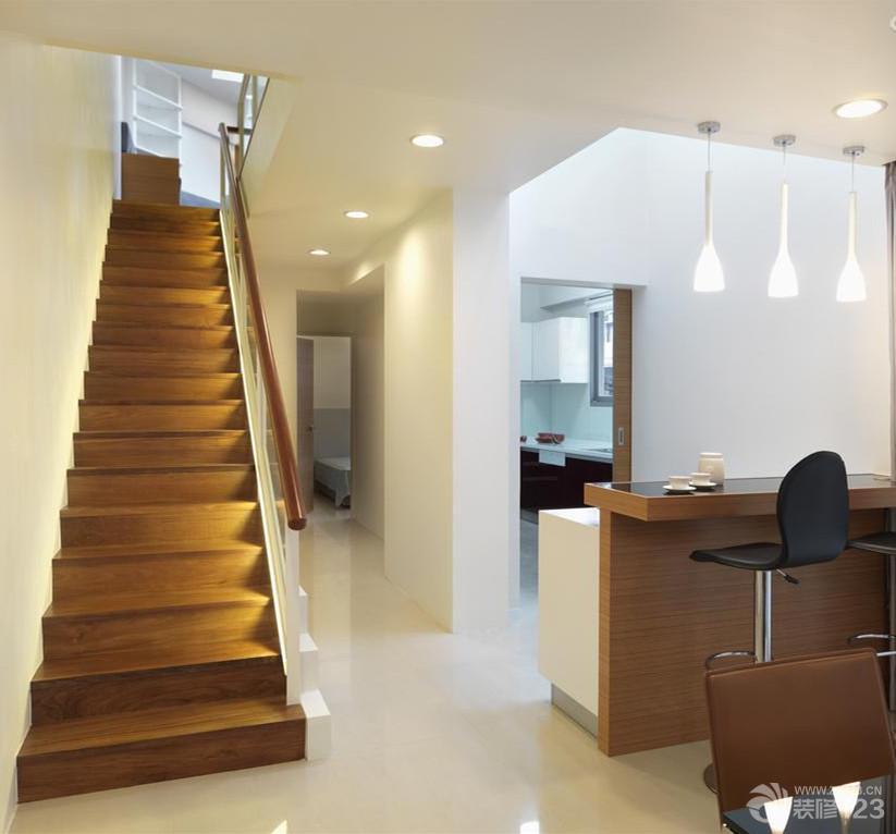 家装效果图 现代 现代简约木楼梯装修效果图大全2014图片 提供者