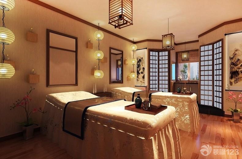 东南亚风格80平米美容院装修设计装修效果图
