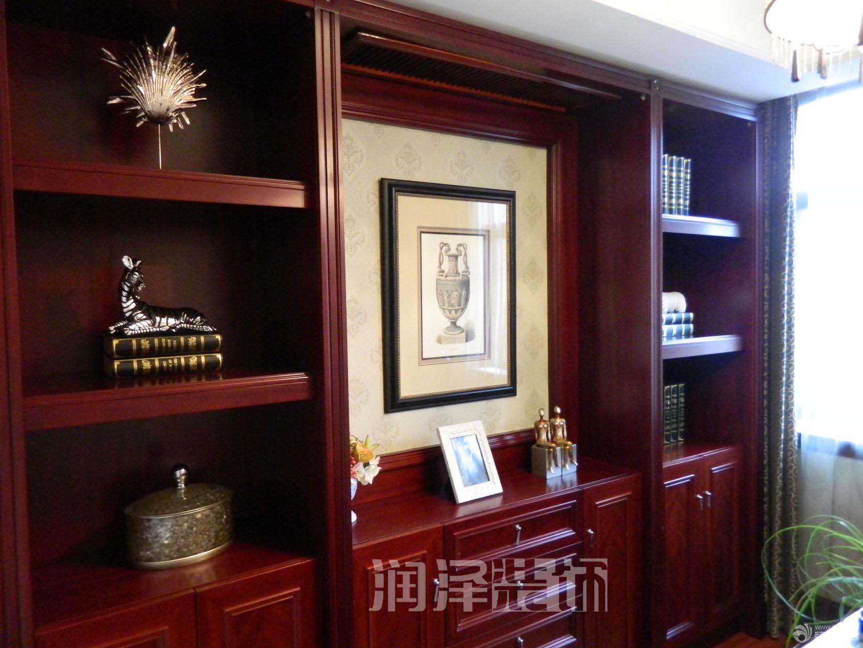 简约欧式风格家庭书房装修设计图