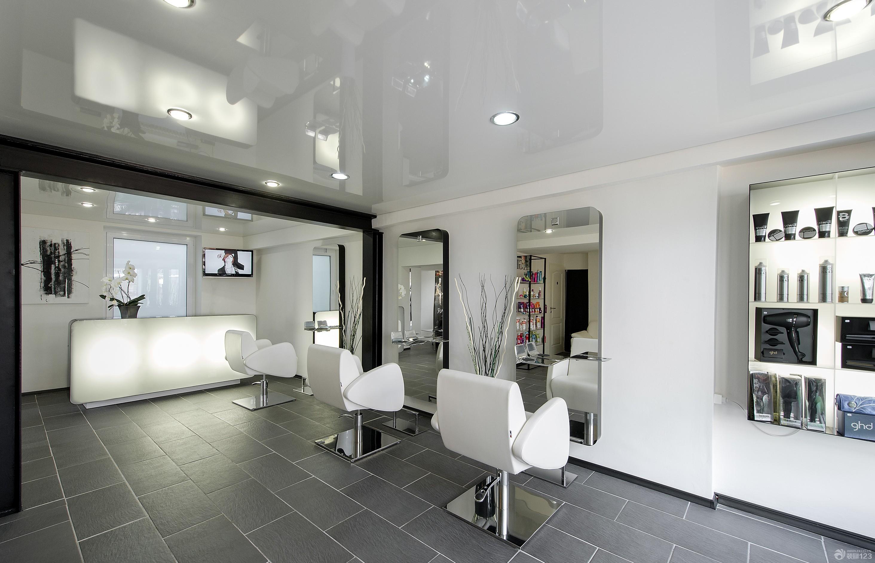 现代简约风格50平米美发店洗头区装修图片