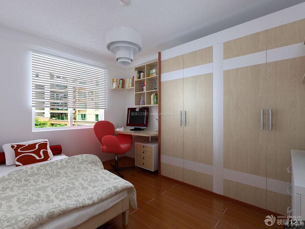 现代简约15平米卧室装修设计效果图