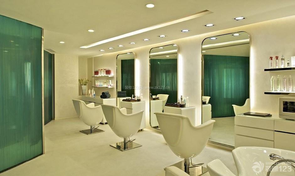 简约风格30平米理发店装饰效果图
