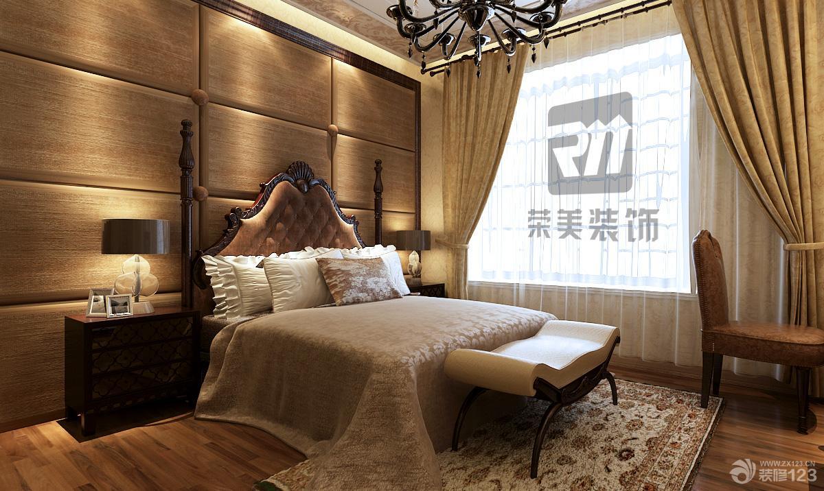 欧式室内复式房屋主卧室软包背景墙装修效果图图片