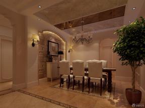 簡約歐式風格 餐廳裝飾 餐廳設計