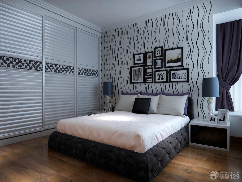 简约室内设计小户型卧室装修效果图大全2014图片