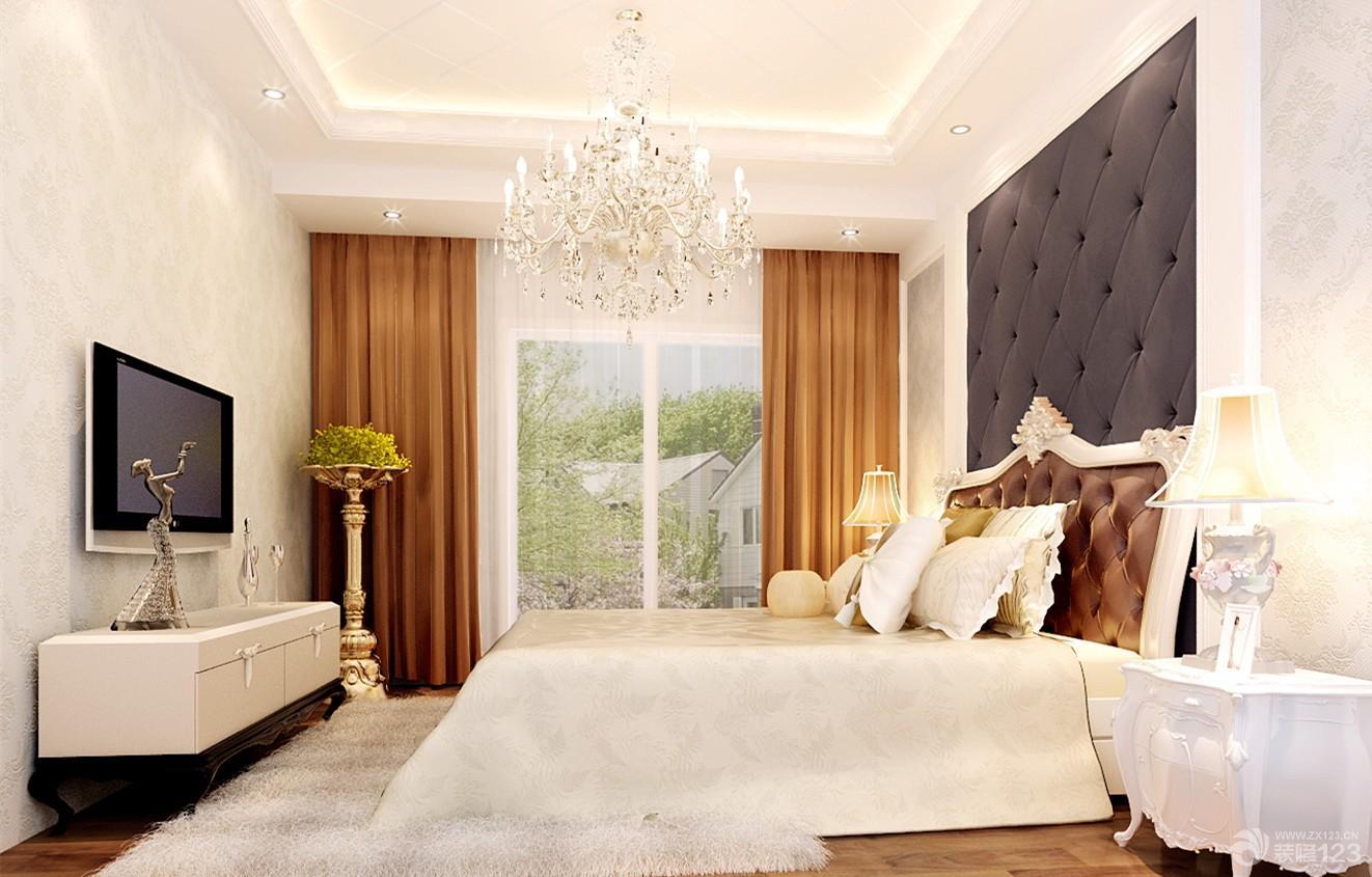 简欧式90平米两室两厅主卧室效果图欣赏