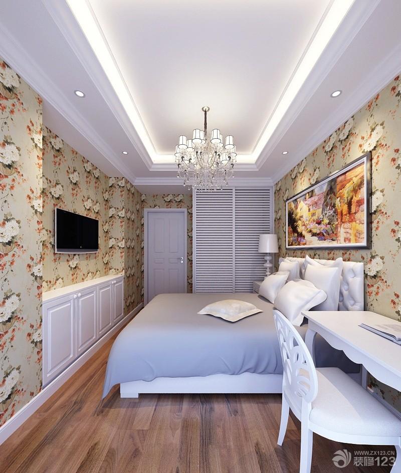 田园风格90平房子两室一厅主卧室装修设计图