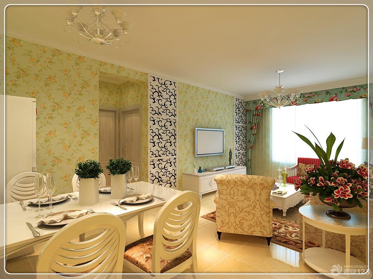 欧式风格70多平米小户型卧室装修效果图大全2014图片