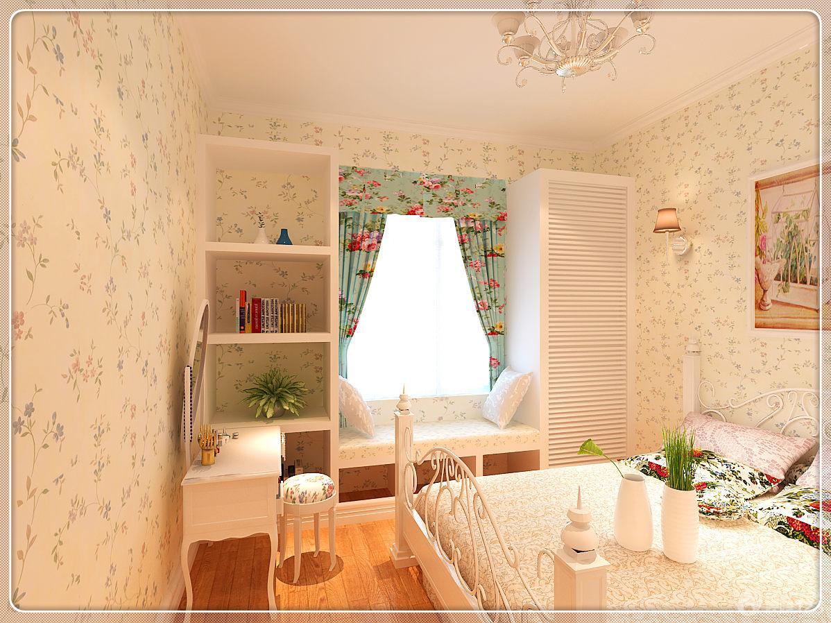 田园风格小清新12平米卧室装修效果图