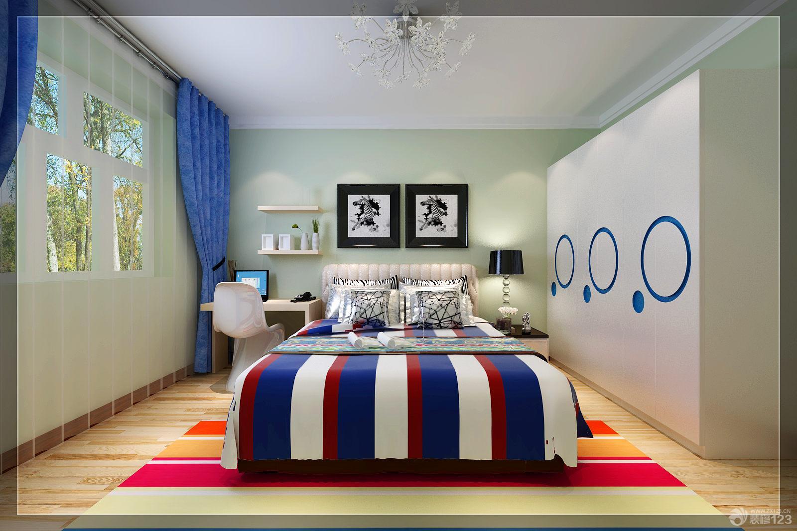 现代简约家具图片卧室颜色搭配装修效果图