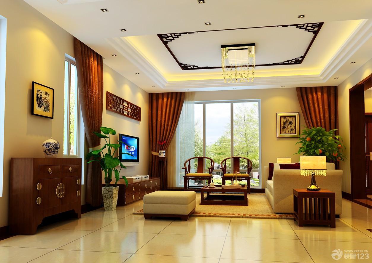 两室两厅90平装修图_90平中式家装效果图,90平中式装修,家装修中式_大山谷图库