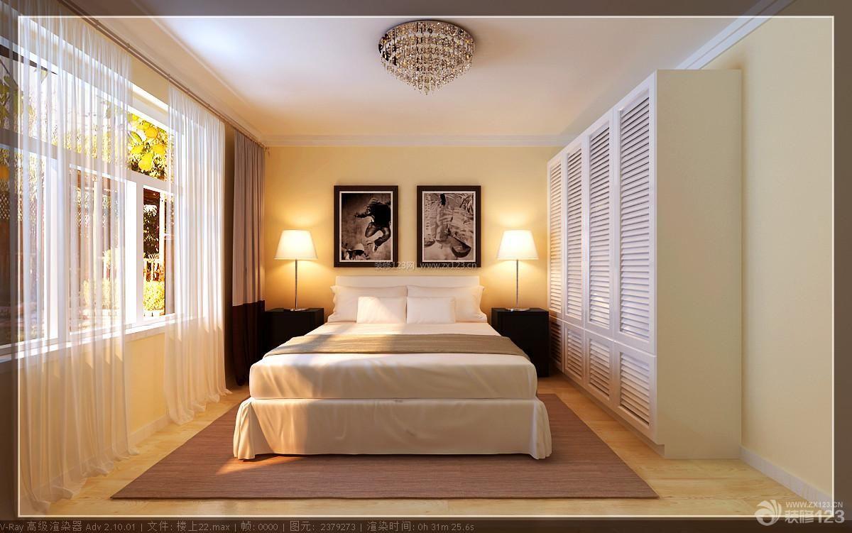 简约家居主卧室设计床头背景墙装修效果图