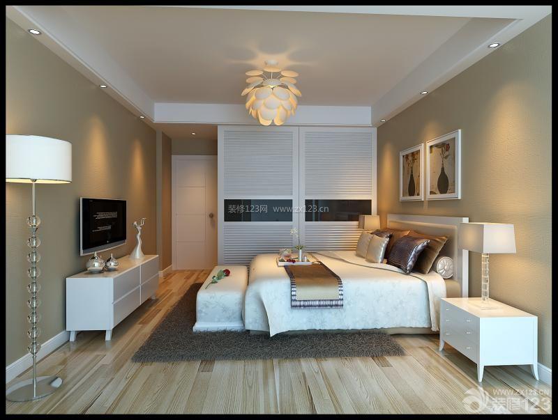 简约背景小别墅12平米卧室装修效果图图片