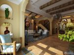 地中海风格贴图独栋别墅斜顶客厅装修图片欣赏图片