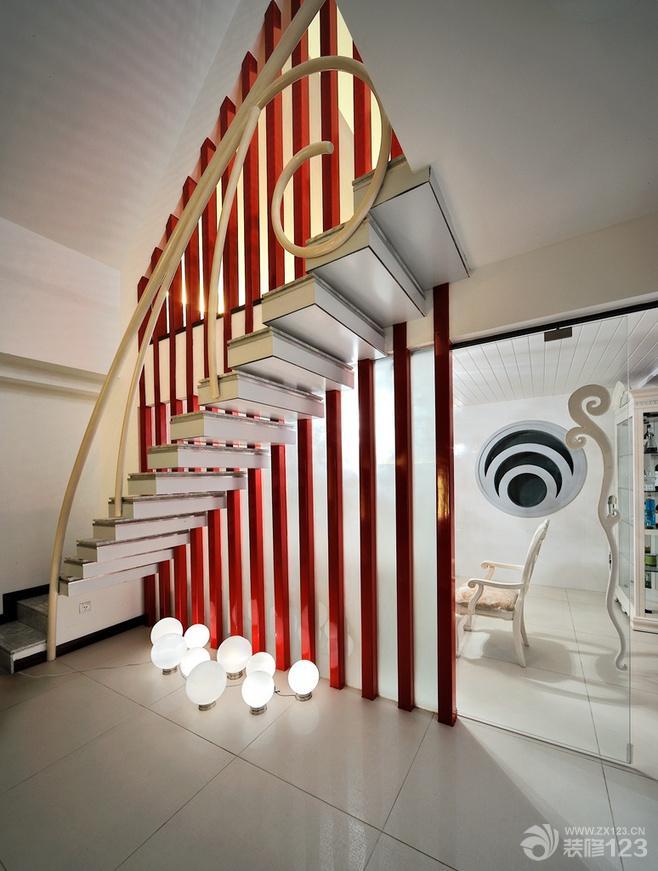 现代欧式风格小户型跃层楼梯装修案例