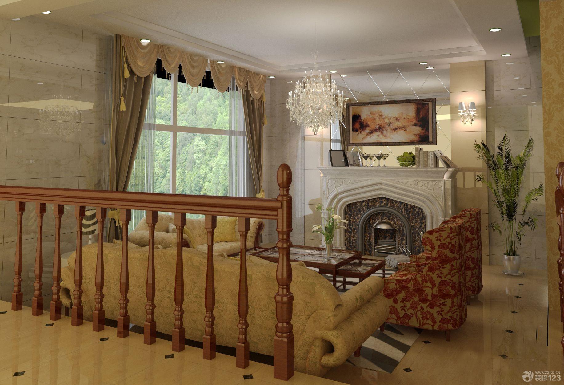 200平米欧式别墅室内装潢效果图