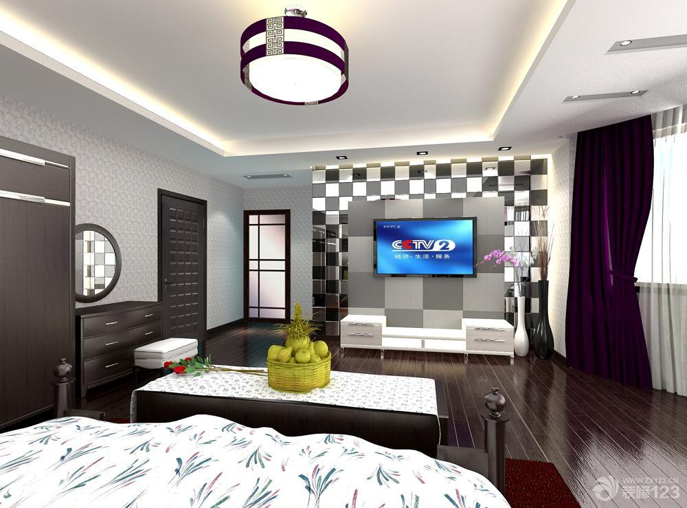 小户型客厅马赛克电视背景墙图片_装修123效果图-倒圆角的蓝色马赛