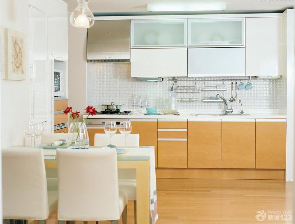 简约风格设计敞开式厨房装修设计图片